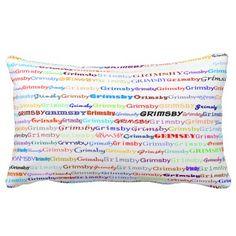 Grimsby Text Design II Lumbar Pillow