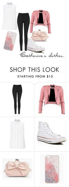 """""""• P I N K  &  W H I T E •"""" by guadalupemorenoramos on Polyvore featuring moda, Topshop, FRACOMINA, John Lewis, Converse y Boohoo"""