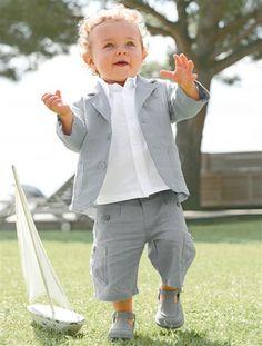 Ensemble cérémonie 3 pièces bébé garçon GRIS - BLANC - vertbaudet enfant