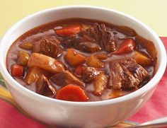 Old World Beef Stew - Preparation time:15 minutes  Slow Cooker Size3.5L+  Serves:4  Cooking time:8 to 9 hours on Low setting or 4 to 5 hours on High setting