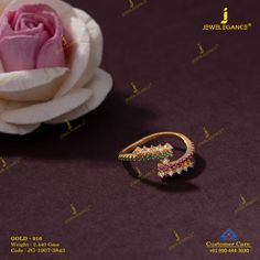 Get in touch with us on 990 444 3030 Couple Rings Gold, Gold Toe Rings, Gold Finger Rings, Gold Rings Jewelry, Gold Chain Design, Gold Bangles Design, Gold Earrings Designs, Gold Jewellery Design, Vanki Designs Jewellery