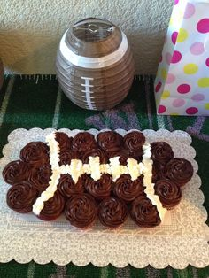 Baby shower football cake