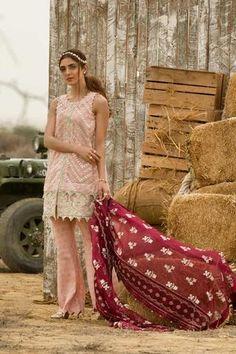 61896c862c Crimson Chiffon Suit - Buy Online at Replica Zone. Saira Shakira, Crimson  Dress,