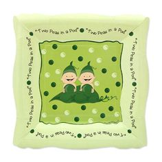 8 Count  Two Peas in a Pod Dessert Plates  by BigDotOfHappiness