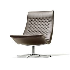 The wonderfully retrospective de Sede Chair is a modern classic. Introduced in the chair looks fresh and futuristic almost forty years Nursery Glider Chair, Swivel Club Chairs, Swivel Chair, Futuristic Furniture, Modern Furniture, Furniture Design, Upholstered Arm Chair, New Home Designs, Office Designs