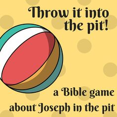Throw it into the pit - a fun Bible game about Joseph in the pit! Ideal for a Sunday school lesson, a kids ministry. a children's church, kids church or youth work. Teen Sunday School Lessons, Toddler Sunday School, Kids Church Lessons, Youth Lessons, Sunday School Crafts For Kids, Sunday School Activities, Bible Lessons For Kids, Kids Church Games, School Fun