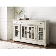 Store your extra dinnerware, flatware, and table linens in a buffet table or sideboard. Shop our great selection of stylish buffet tables and sideboards. Decor, Sideboard Decor, Furniture, Traditional Furniture, Cabinet Decor, Dining Room Buffet, Home Decor, Kitchen Cabinets Decor, Dining Room Sideboard