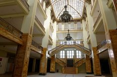 The Görlitz Warenhaus was empty for four years before it became a set for The Grand Budapest Hotel. Photograph by Wolfgang Pichler.
