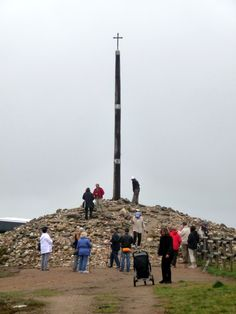 Cruz de Ferro - The cross of iron is a place where pilgrims of the Camino often leave behind something symbolic, a stone, a ribbon, a prayer.