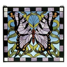 Butterfly Stained Glass Window