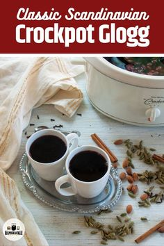 This is an easy traditional Glogg Recipe that is popular in Norway, Sweden, and Denmark. It is an amped-up crockpot mulled wine recipe meant to appease the Scandinavian in you. Scandinavian Holidays, Scandinavian Recipes, Norwegian Recipes, Norwegian Food, Classic Cocktails, Wine Recipes, Great Recipes