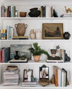 These shelves are ever changing. It's full of memories, knickknacks, books I treasure, and a lot more. But most of all, I treasure this… bookshelf decor My New Room, Home Decor Inspiration, Decor Ideas, Home And Living, Living Room, Sweet Home, Room Decor, House Design, Decoration