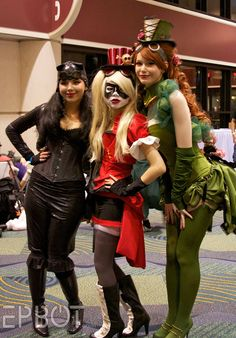 Burlesque Catwoman, Harley, and Poison Ivy. http://www.epbot.com/