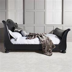 Frank Hudson Safari Super King Bed Frame, Charcoal Black/Cotton Linen