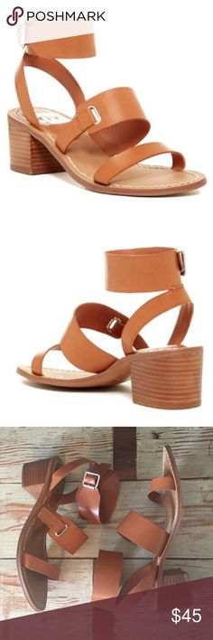 """Dolce Vita Mabrie Heeled Sandals Worn once and still in great condition. The straps are still in like new shape. The soles and heels have very minor wear and still have a ton of life left in them. The heel is approx. 2"""". Very comfy to walk around in for awhile. * NO TRADES * Dolce Vita Shoes Sandals"""
