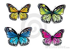 Colorful Butterflies Stock Photos - Image: 16368303