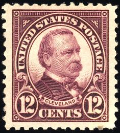 Grover Cleveland 1923 Issue-12c - U.S. presidents on U.S. postage stamps - Wikipedia, the free encyclopedia