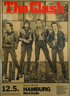 "Canvas Giclees & Fine Art Prints by Annex Reproduction Flier - The Clash Show Poster from 1980 This is a gallery wrapped canvas print that comes on a 1.25"" stretcher bar & is ready to hang. Gallery Qu"