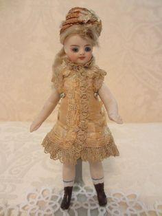 Adorable French type slender all-bisque doll. #dollshopsunited #allbisque
