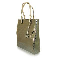 Michael Kors - metaliczna tłoczona torebka - SALE! Michael Kors, Bags, Fashion, Handbags, Moda, Fashion Styles, Fashion Illustrations, Bag, Totes