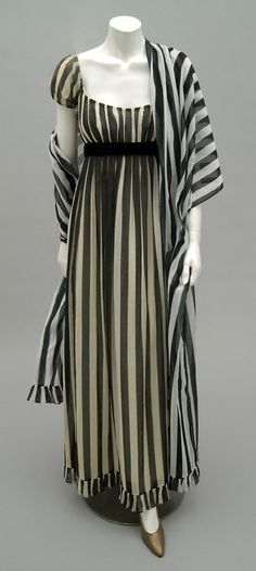 Designed by Anne Fogarty, American, 1968--Not a Regency, but would make a fantastic dress