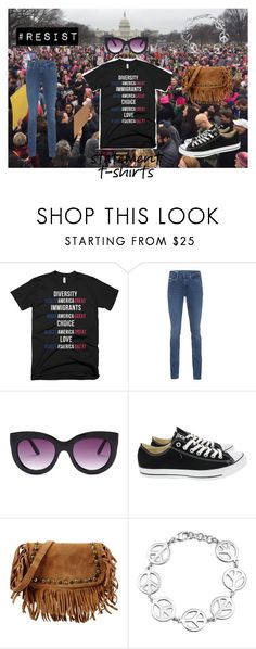 """""""A Statement That Matters!"""" by nicole022487 ❤ liked on Polyvore featuring Trump Home, Calvin Klein Jeans, Steve Madden, Converse, George J. Love, Bling Jewelry, feminism, equalityforall, resist and BlackLivesMatter"""