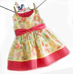 PDF Pattern Baby Toddler Dress NB to 18 Month by VintageToNew, $6.50