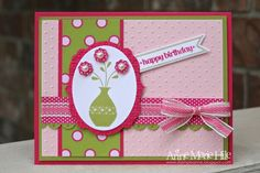 Stampin' Anne: Buttoned Birthday Flowers for {PP #139}