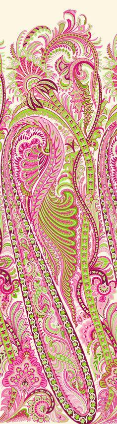 Bunch Of Flowers Drawing, Textile Design, Fabric Design, Baroque Design, Ikat Pattern, Album Design, Floral Border, Vintage Flowers, Paisley Print