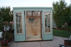 Arts Studio Shed or Greenhouse vintage by LittleMansionsDesign, $5150.00