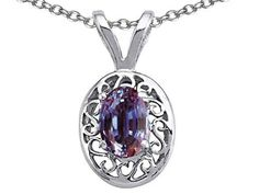 Tommaso Design Oval Simulated Alexandrite Pendant Necklace 14kt ** Want to know more, click on the image.-It is an affiliate link to Amazon. #Necklace