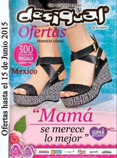 Catalogo de Desigual Dia de la Madre 2015, Consulta las ofertas en ropa y zapatos para mujer.