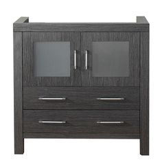 Virtu USA Dior 36-inch Zebra Grey Single Sink Cabinet Only Bathroom Vanity - Overstock™ Shopping - Great Deals on VIRTU Bathroom Vanities