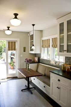 kitchen booths blanco faucets build a corner booth seating interior photos of kitchens and stunning small island table ideas