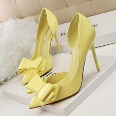 Women Sweet Bowknot High-heeled Shoes