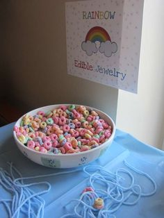 Julianne's Rainbow Birthday Party | CatchMyParty.com