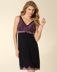 Soma Intimates Darling Sleep Chemise Black #somaintimates