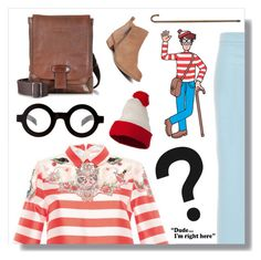 """Where's Waldo?"" by jleigh329 ❤ liked on Polyvore featuring ASOS, The Bridge, Lucky Brand, whereswaldo, 2016, waldo and vivetta"