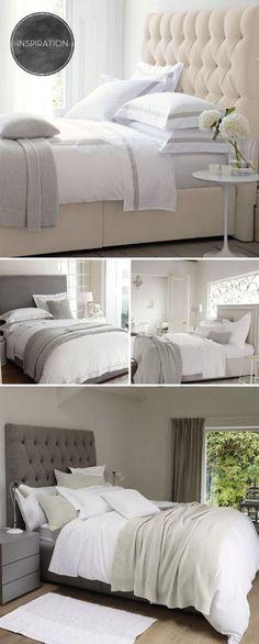 Headboard/ grey & cream color combo