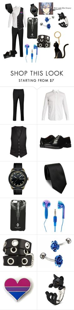 """""""Ocean Eyes (Work wear)"""" by thehipsternerd ❤ liked on Polyvore featuring Ted Baker, Maison Margiela, Diverso, Massimo Matteo, Movado, Yves Saint Laurent, Marcelo Burlon, ASOS, Thom Browne and men's fashion"""