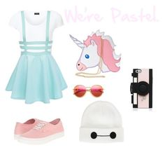 """""""Untitled #77"""" by darkenedroses on Polyvore featuring Joseph, Vans, Nila Anthony, Kate Spade, Wildfox and Disney"""