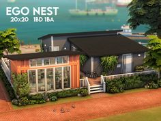 Sims 4 House Plans, Sims 4 House Building, The Sims 2, Sims 4 Kitchen, Sims 4 House Design, Casas The Sims 4, Sims 4 Build, Outdoor Retreat, City Living