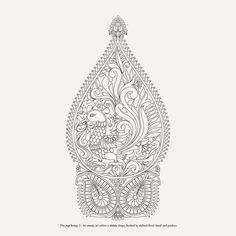 Discover artistry in the motifs of the kanjivaram craft - Vanam Singaram (The Forest Adorned) - is a unique anthology of drawn motifs in a colouring book format. Flower Pattern Drawing, Pattern Art, Flower Patterns, Peacock Drawing, Paisley Background, Outline Designs, Paint Designs, Stencil Printing, Hand Embroidery Patterns