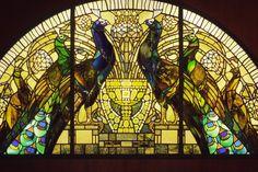 Vitrail Art Deco Paon - Rome
