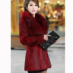 Women's Mink Coat. Never fails to give a luxurious look does it?