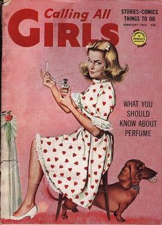 View from the Birdhouse: Dear Abby - Valentine Covers of Calling All Girls Magazine