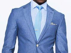 Washed Indigo Birdseye Cotton Suit 1