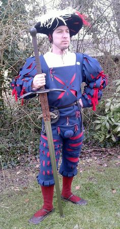 Very simply-done Landsknecht wams and hosen
