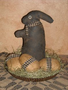 Extreme Primitive Bunny with Eggs