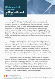 Study abroad application essay help